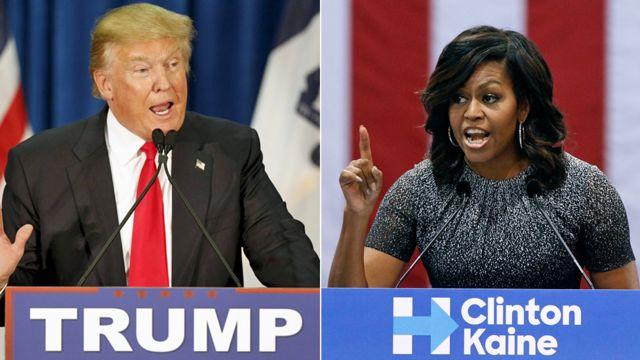 Donald Trump və Michelle Obama