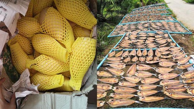 มะม่วงและปลาแห้ง