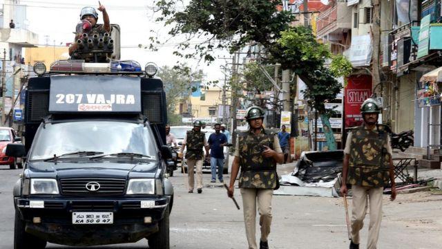 कर्नाटक में कर्फ्यू