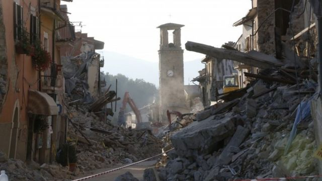 Amatrice, Italy, after Wednesday's earthquake