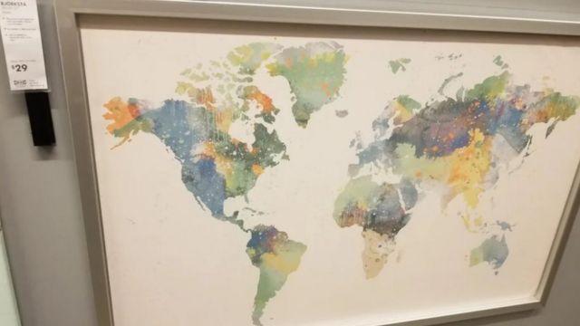 Imagen del mapa de Ikea sin Nueva Zelanda