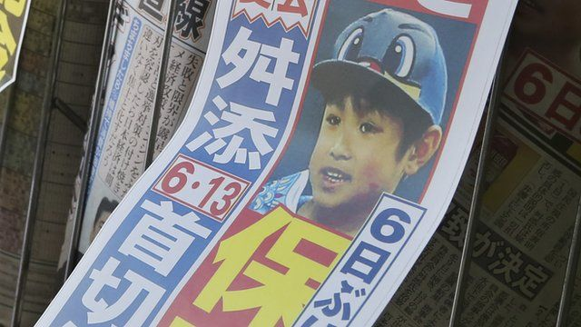 Newspaper showing missing boy