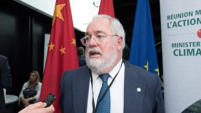 European Commissioner for Climate Action and Energy Miguel Arias Canete at a meeting in Montreal, Canada. Photo: 16 September 2017