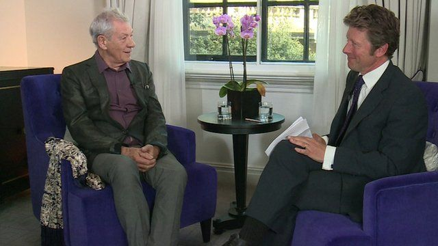 Actor Sir Ian McKellen in an interview with the BBC's Charlie Stayt