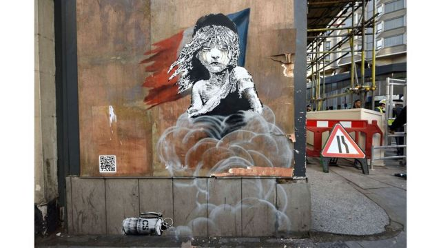 Grafite 'Les Mis', de Banksy