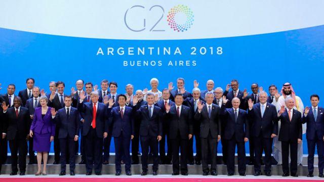 Los líderes mundiales en la cumbre del G20 en Buenos Aires, en diciembre de 2018