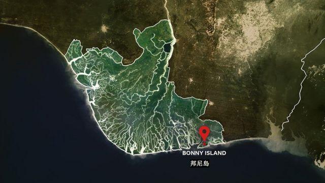 尼日尔三角洲地图
