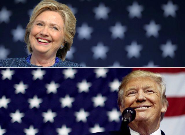 клинтон и трамп
