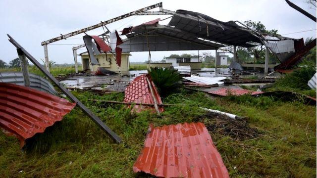 Una estructura dañada en Veracruz