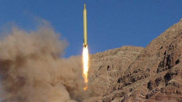 تجربة صاروخية في إيران