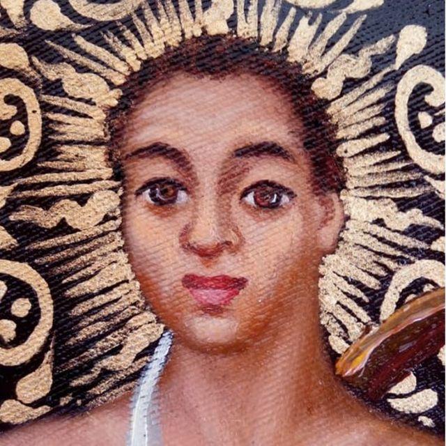 Tibira do Maranhão, detalhe da tela de Miguel Galindo