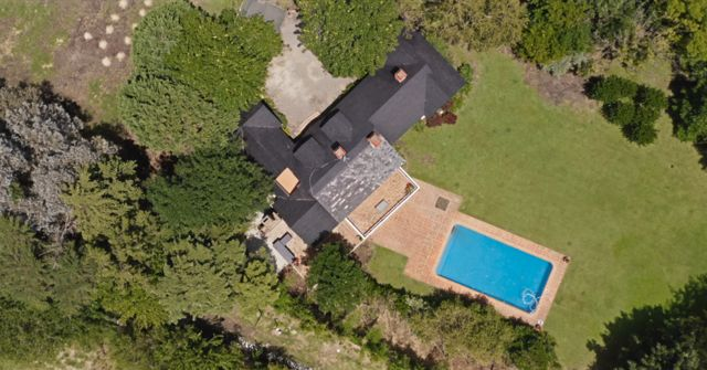 Vista aérea de la casa de María Marta García Belsunce y Carlos Carrascosa.