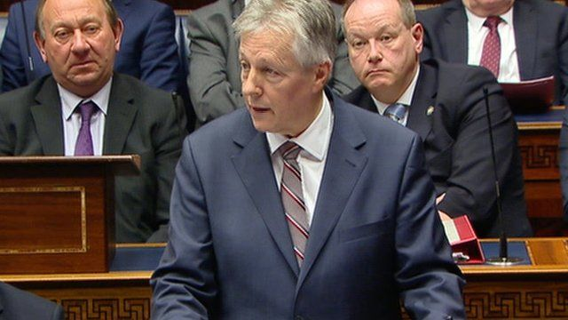 Peter Robinson told the Assembly he was certain Arlene Foster was 'a worthy successor'