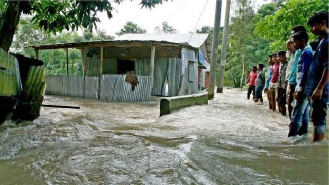 سیل در شمال بنگلادش