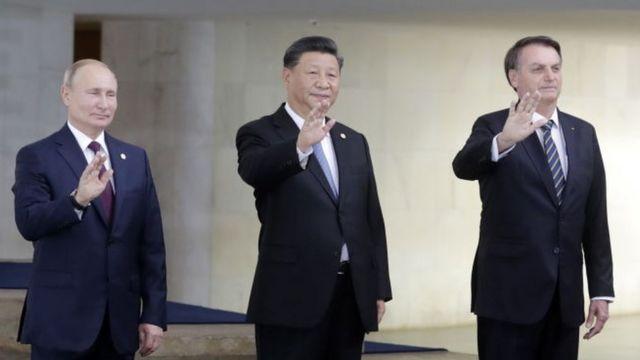 Vladimir Putin, Xi Jinping y Jair Bolsonaro