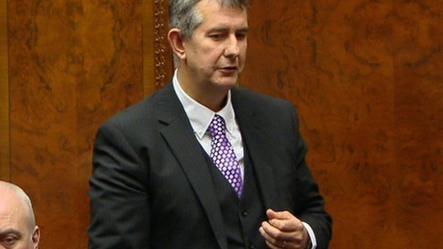 "Edwin Poots said Arlene Foster's ""most important job"" remained ""that of a wife, mother and daughter""."