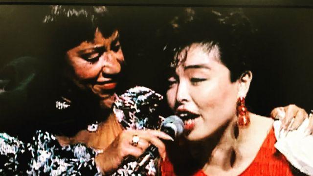 Celia Cruz con Nora Suzuki