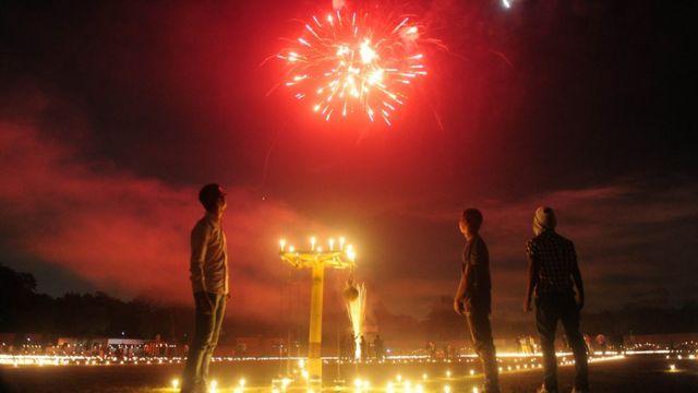 ألعاب نارية خلال احتفالات في الهند