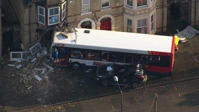 Bus after crash