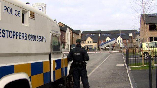 Police cordon at scene of shooting