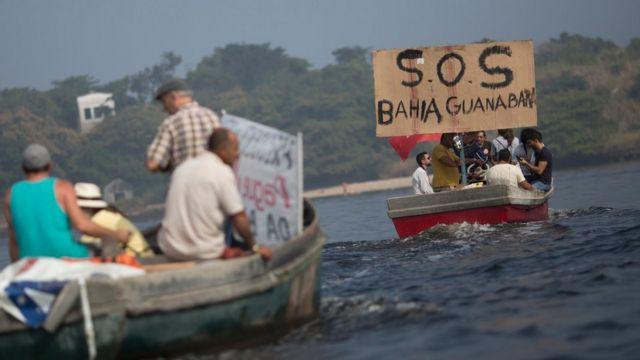 Barcos na Baia de Guanabara
