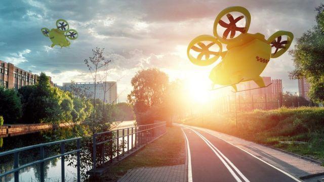 Воздушные такси будущего и пустые дороги