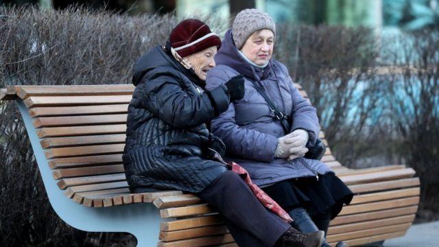 Пожилые москвички