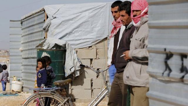 ヨルダン国内の難民キャンプ(1日)