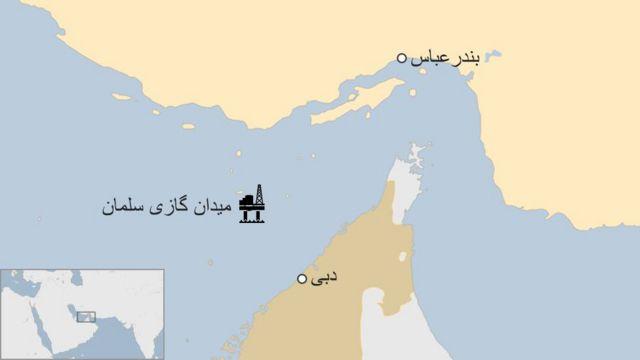 براساس قرارداد کرسنت قرار بود گا میدان سلمان به امارات صادر شود