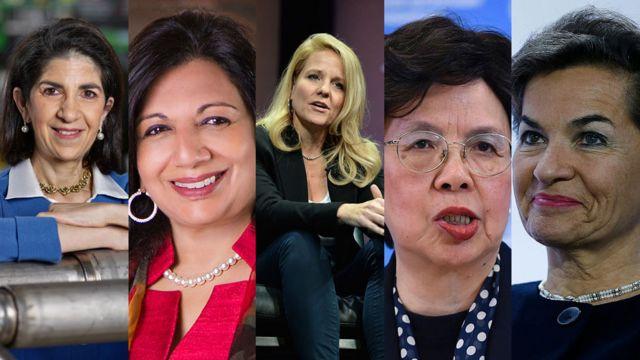 Fabiola Gianotti, Kiran Mazumdar-Shaw, Gwynne Shotwell, Margaret Chan, Christiana Figueres