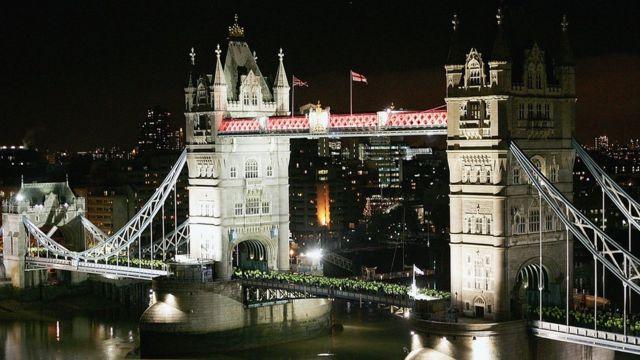 Imagen aérea de Londres