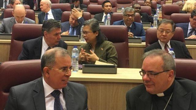 Diplomats dem for di meeting