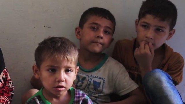Family in Aleppo