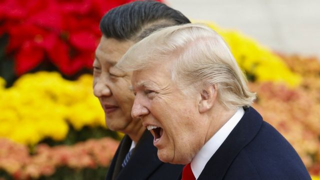US President Donald Trump with China's President Xi Jinping in 2017