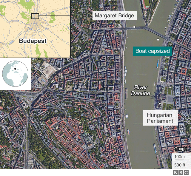 map of the boat collision