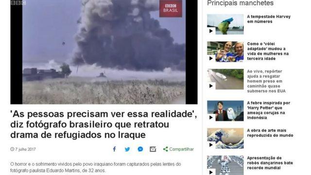Matéria da BBC Brasil