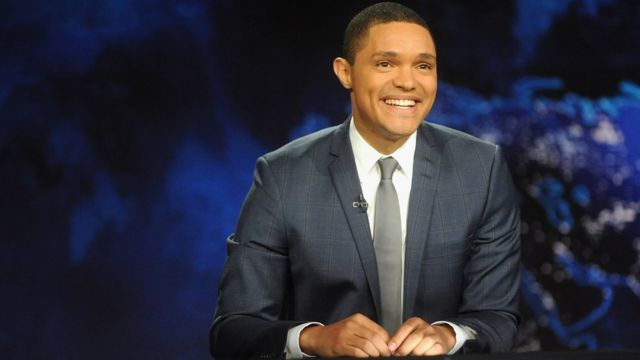"""Trevor Noah hosts Comedy Central's """"The Daily Show with Trevor Noah"""" on September 28, 2015 in New York"""