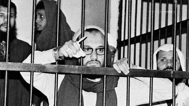 الظواهري خلال محاكمة قتلة السادات عام 1981