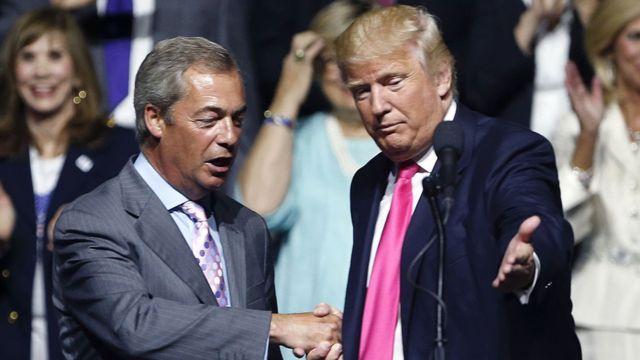 Nigel Farage y Donald Trump