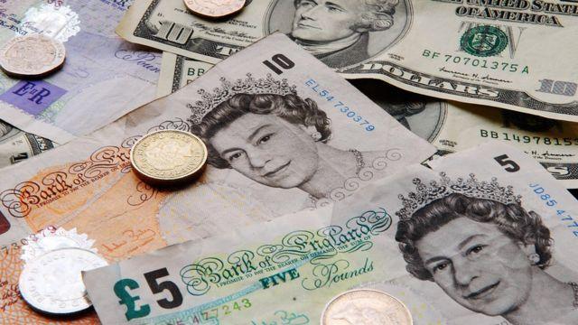 米ドルと英ポンド