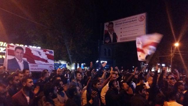 Vahid Milli Hərəkat partiyasının mitinqi