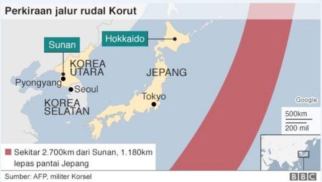 Korea Utara Peluncuran Rudal Di Atas Jepang Cuma Langkah Pertama Operasi Militer Bbc News Indonesia
