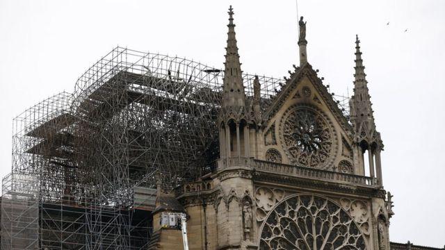 Catedral de Notre-Dame após o incêndio