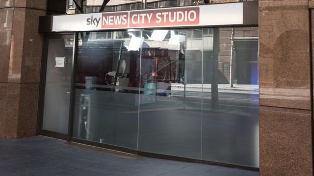 General exterior view of the Sky News City Studio in Elizabeth Street, Sydney, New South Wales, Australia.