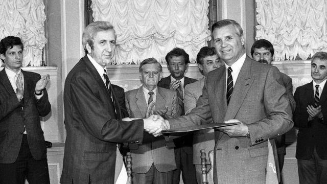 Анатолій Зленко зі своїм угорським колегою