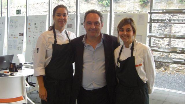 Joyce Galvão e Ferran Adria