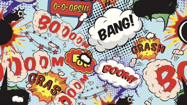 Ilustración de comic de pelea de superhéroes