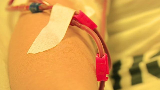 Someone on kidney dialysis