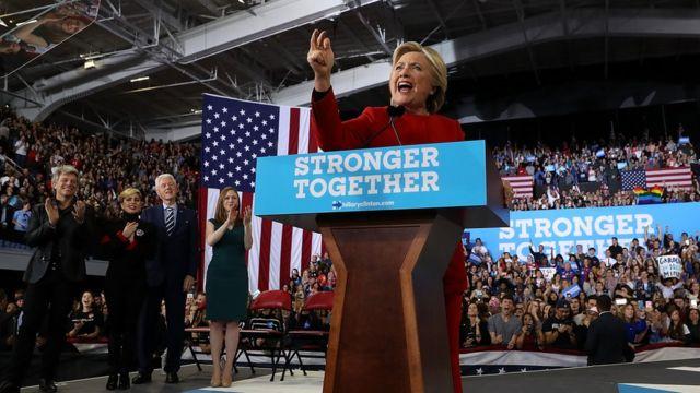 Hilary Clinton in north Carolina rally