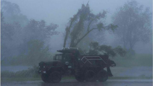 Un camión en Bourg, Luisiana